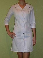 Медицинский халат Лилия. Опт 240. Розница 330.Ткань: мед-твил (диагональ).