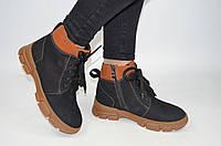 Ботинки женские зимние ILONA 452-1 чёрные замша, фото 1