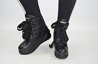 Ботинки женские зимние Carlo Pachini 4-5008-19-11 чёрные кожа, фото 1