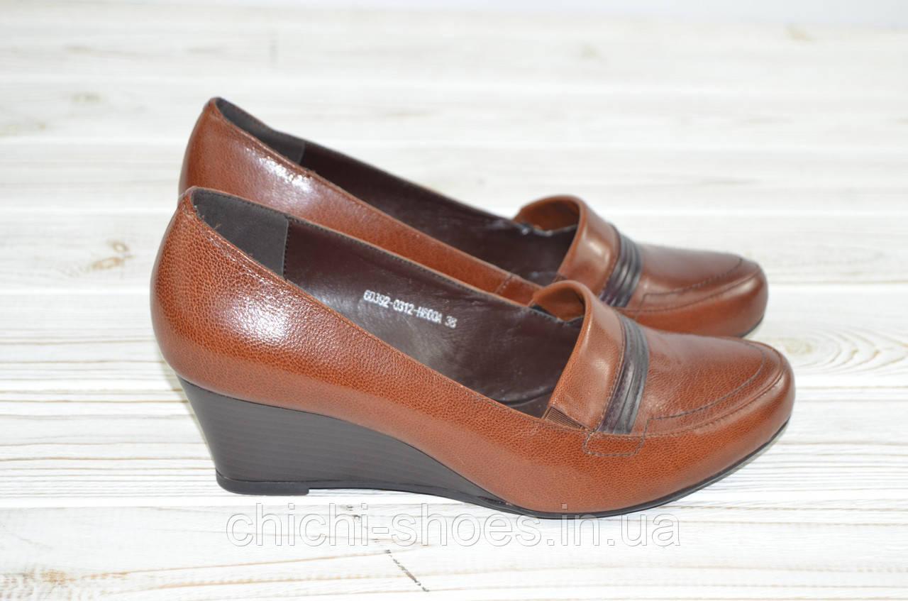 Туфли женские Beletta 0312 коричневые кожа