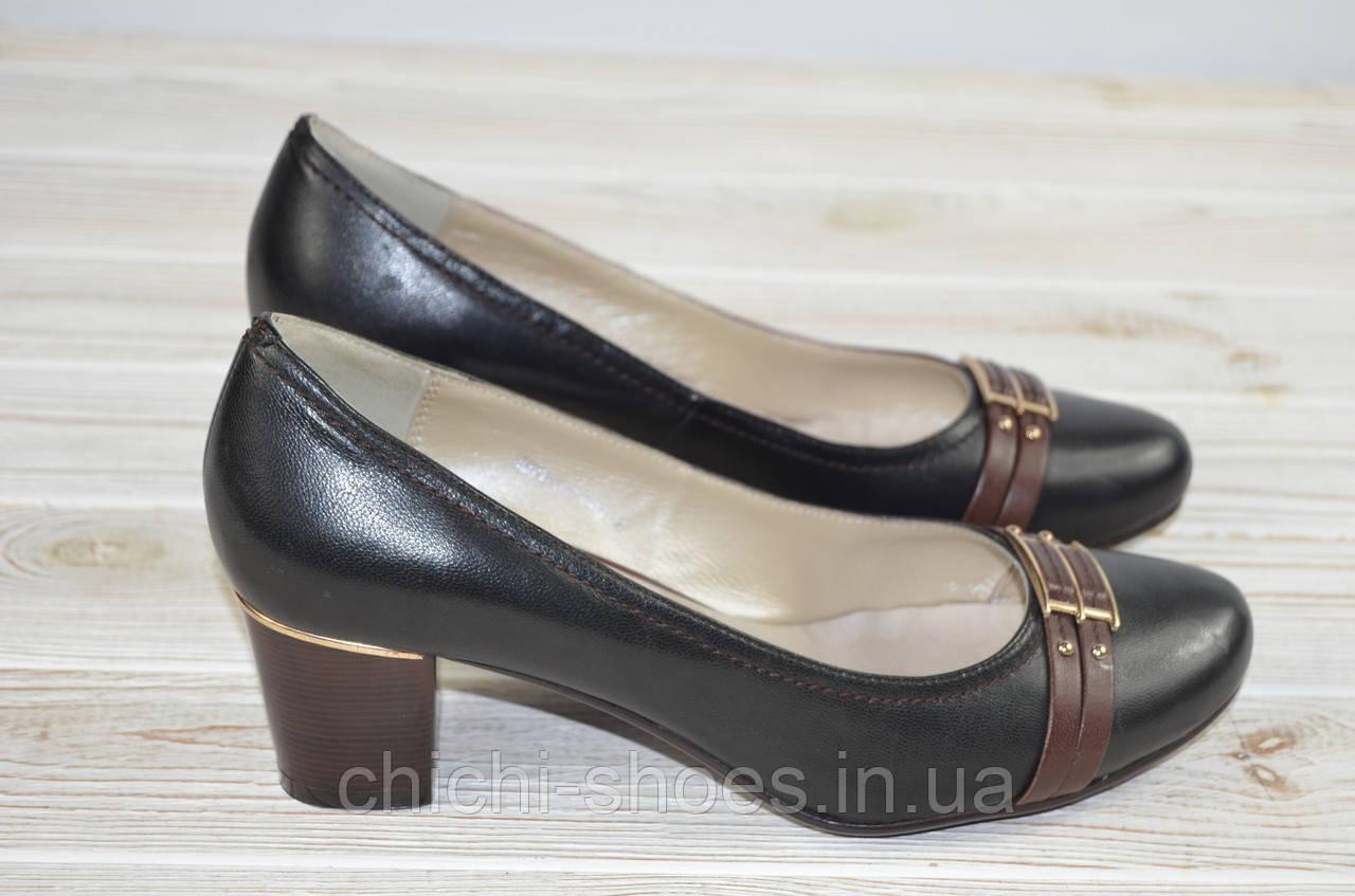 Туфли женские It Girl 050-6 чёрные кожа