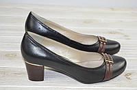 Туфли женские It Girl 050-6 чёрные кожа, фото 1