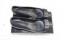 Туфли женские Blizzarini 3197-601-232 чёрные кожа каблук, фото 1