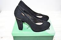 Туфли женские Flona 5207-90 чёрные замша каблук, фото 1