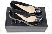 Туфли женские Blizzarini 6396-1 чёрные кожа-лак каблук, фото 1