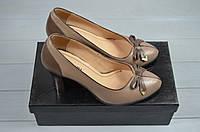 Туфли женские it Girl 7236-20 коричневые кожа каблук, фото 1
