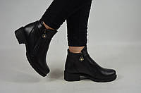 Ботинки женские Orbita 10-2 чёрные кожа, фото 1