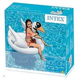 """Intex Пліт надувний матрац """"Лебідь"""" 57557 розміром 130х102х99 см, від 3 років, (Оригінал), фото 5"""