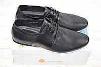 Туфли мужские Comfortime 12075 чёрные кожа на шнурках, фото 1