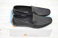 Туфли-мокасины мужские Comfortime 12221 чёрные кожа, фото 1