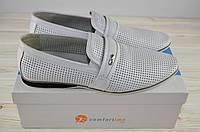Туфли мужские Comfortime 12230 белые кожа на резинках размеры 44,45, фото 1