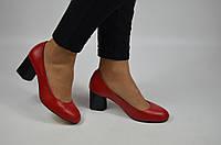 Туфли женские AURIS 1950-1 красные кожа, фото 1