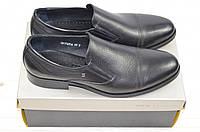Туфли мужские Davis 1768-56 чёрные кожа на резинках, фото 1