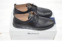 Туфли мужские Belvas 1773 чёрные кожа на шнурках, фото 1