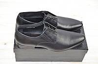 Туфли мужские Miratti 205162-8 чёрные кожа на шнурках, фото 1