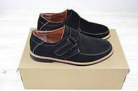 Туфли подростковые Step by Fill М-18 чёрные замша, фото 1