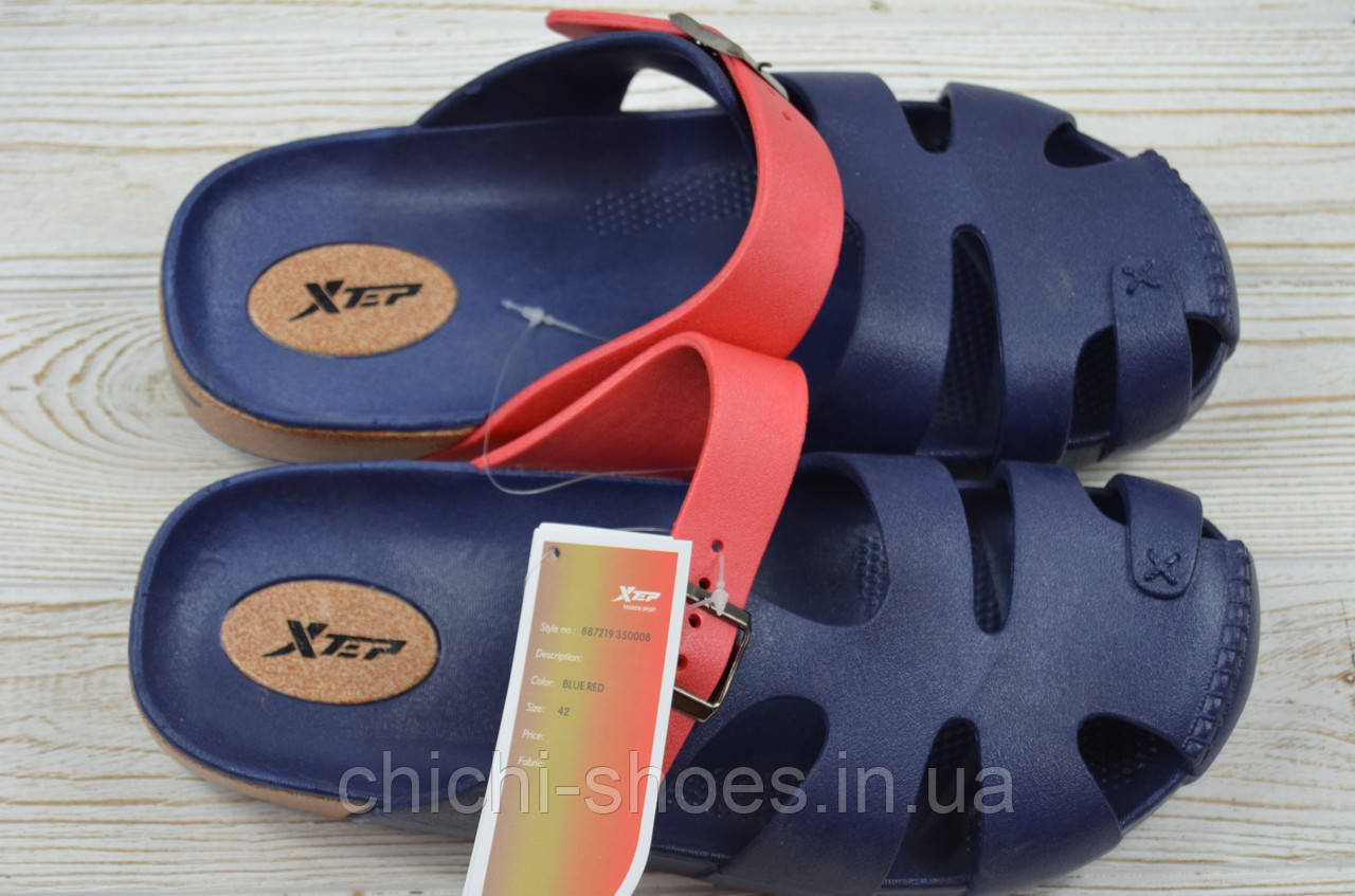 Кроксы мужские X-TEP 350008 тёмно-синие резина