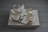 Босоножки женские AURIS 1675-1-30 белый кристалл кожа, фото 1