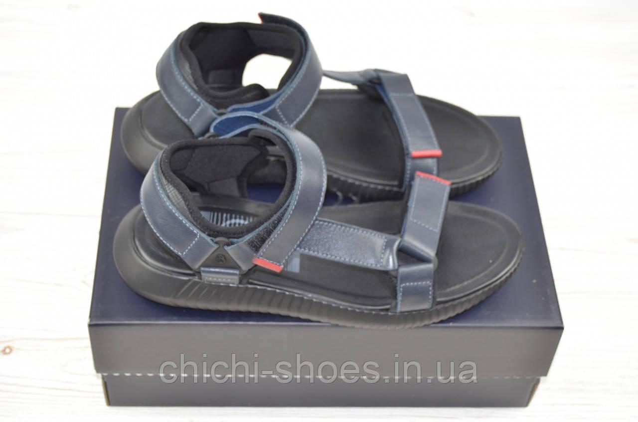 Мужские сандали Bertoni 29406 синие кожа