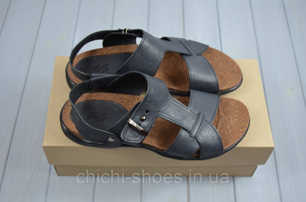 Мужские сандали Step Wey 1075-1 чёрные кожа