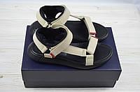 Мужские сандали Bertoni 29409 бежевые кожа, фото 1