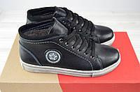 Ботинки подростковые зимние KONORS 912-33-7-1 чёрные кожа