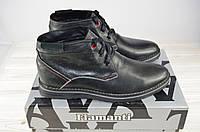 Ботинки мужские зимние Flamanti 930 чёрные кожа на шнурке (последний 40 размер), фото 1