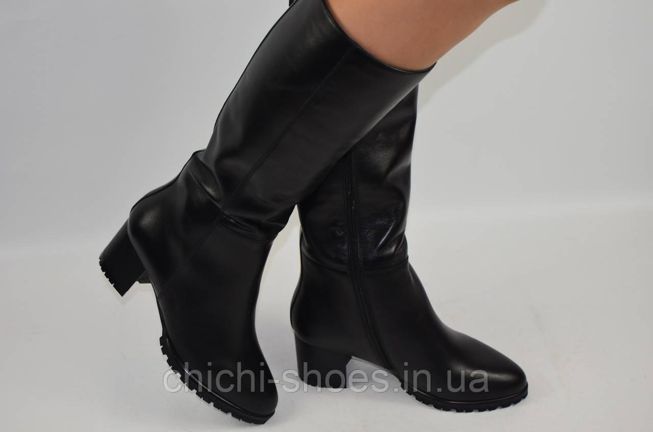 Сапоги женские зимние Viko 11-1-201 чёрные кожа каблук