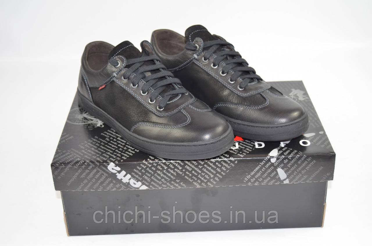 Туфли мужские демисезонные Detta Studio 750 чёрные кожа