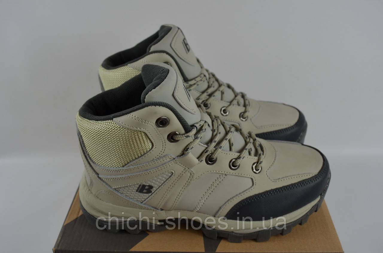Ботинки подростковые спортивные зимние Бона 694М-2-6 бежевые нубук