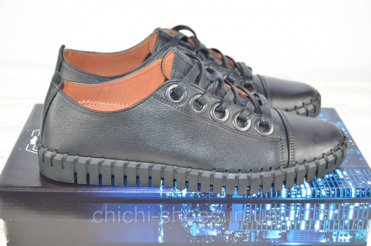 Туфли мужские Prime N Shoes 19-031-30120 чёрные кожа на шнурках