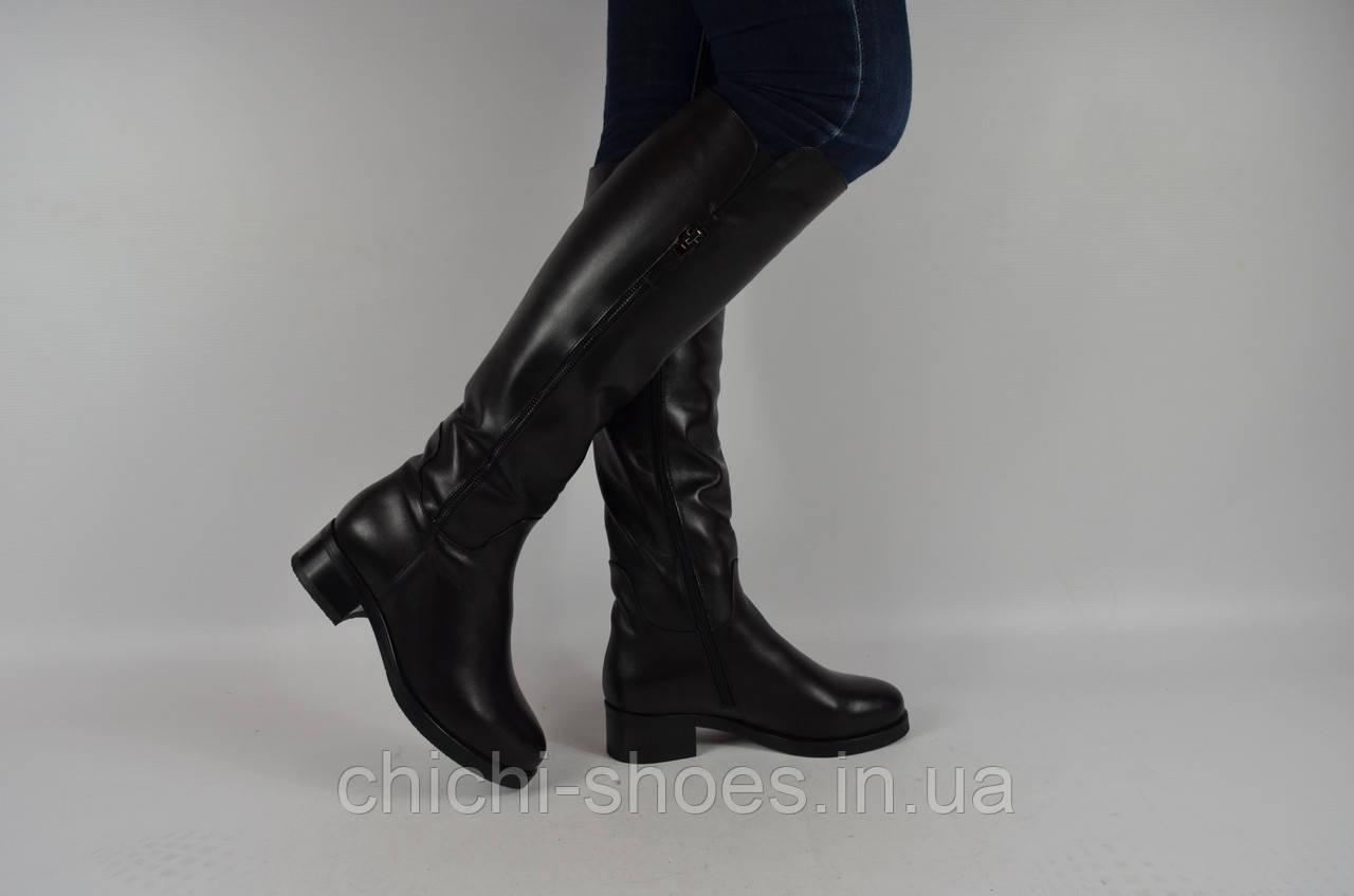 Сапоги женские зимние Viko 1113-14 чёрные кожа низкий ход