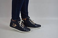 Ботинки женские демисезонные CORNELLIA 145-1 синие кожа (последний 36 размер), фото 1