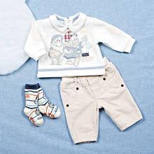 Нарядный костюм комплект для мальчика BRUMS Италия 133BBEA004 Молочный