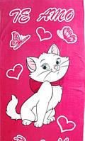 Пляжное полотенце Кошечка