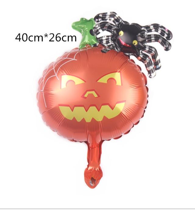 Фольгированный мини-шар Паук на тыкве 40х26 см (Китай)