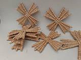 Вітряки плетені з лози, зоготовка для поробок 11*11 см  25 грн, фото 10