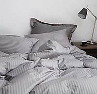 Двоспальне постільна білизна Luxury світло-сіре