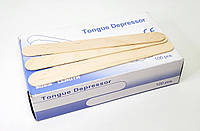 Деревянные палочки для депиляции 100 шт (шпатель для депиляции)
