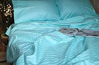 Двоспальне постільна білизна Luxury бірюзове