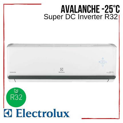 Кондиционер Electrolux EACS/I-24HAV/N8_19Y Avalanche Super DC Іnverter R32 тепловой насос -25°С, фото 2