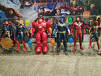 Супер герои Marvel (3 вида) Халк, Человек паук, Железный человек, Тор, Танос, Капитан Америка