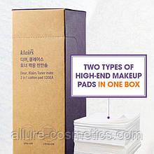 Спонж для зняття макіяжу Klairs toner mate 2 in 1 cotton pad 120шт.