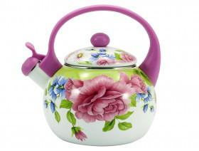 Эмалированный чайник Zauberg FT7 22L Pink handle (2.2 л)