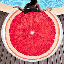 Кругле пляжний рушник Грейпфрут (150 див.)