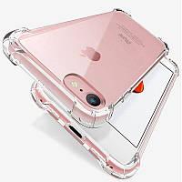 Силиконовый прозрачный чехол для iPhone 7 8 усиленные углы