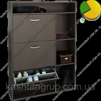 Трехдверный шкаф для обуви