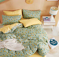 Шикарное сатиновое постельное белье (100% хлопок) с ярким принтом Морковка 3 Евро
