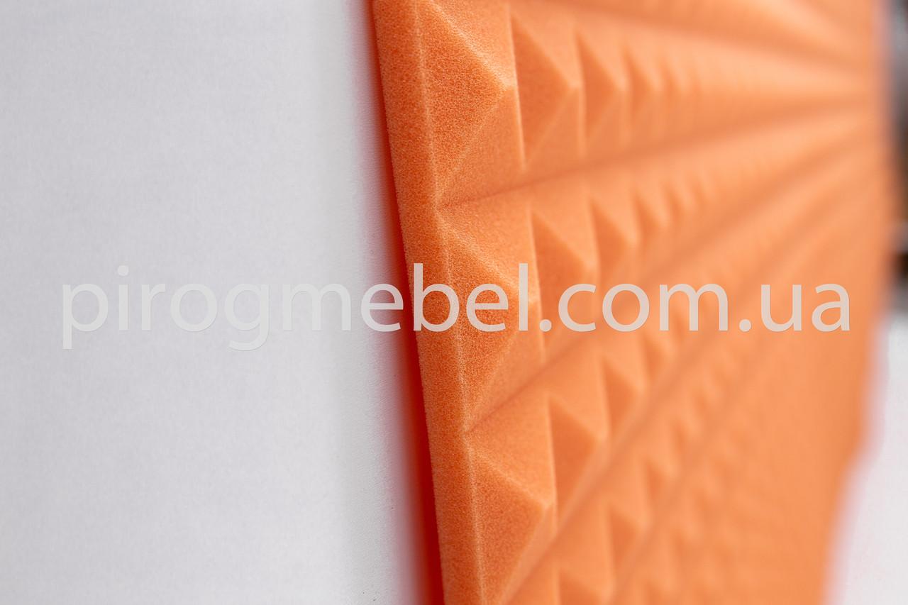 """Акустическая панель """"пирамида """" 1м* 1м ,30 мм оранж"""