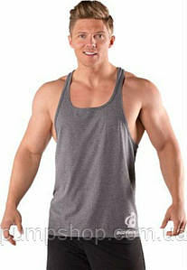 Спортивная мужская майка Bodybuilding Clothing Simple Classic Y Back Tank серая XXL